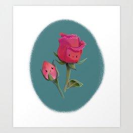 Cutie Rose and Bud Art Print