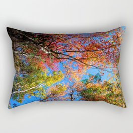 Colorful, Autumn In New Hampshire by OLena Art Rectangular Pillow