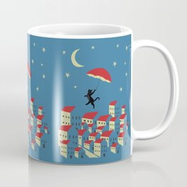 Upton The Cat And His Evening Adventures Coffee Mug