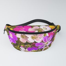 Colorful meadow flowers #Society6 #buyart Fanny Pack