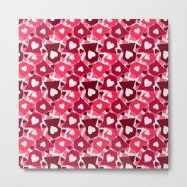 Heart Confetti Metal Print