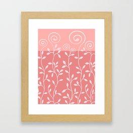 VINEIRI | mauve pink Framed Art Print