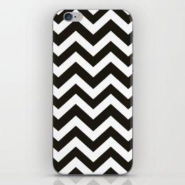 Black chocolate - black color - Zigzag Chevron Pattern iPhone Skin