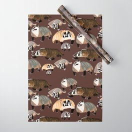 American badger Wrapping Paper