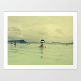 Public Bathing Art Print