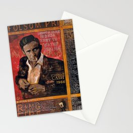 Red Johnny Cash Stationery Cards