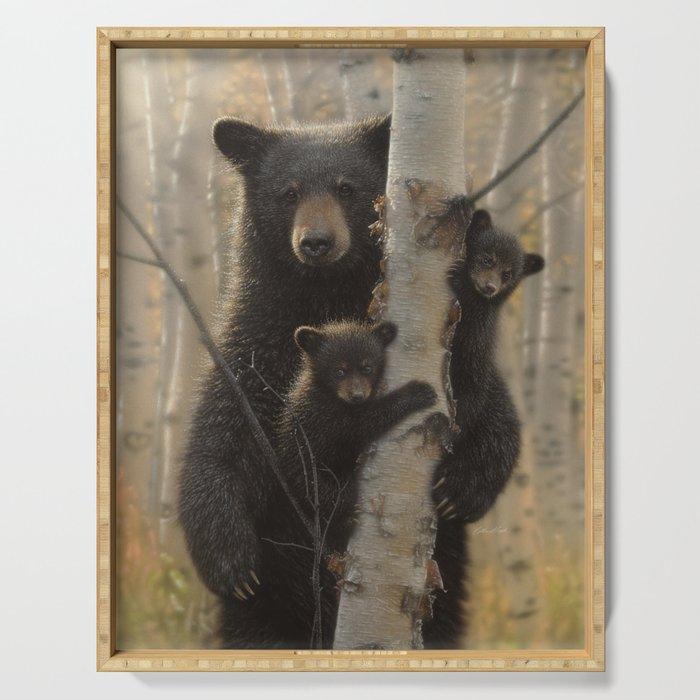 Black Bear Cubs - Mama Bear Serving Tray