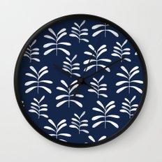 Bromeliads - indigo Wall Clock