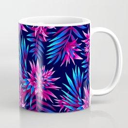 Aechmea Fasciata - Dark Blue/Pink Coffee Mug