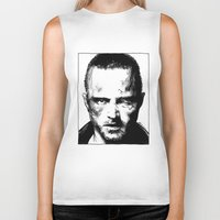 jesse pinkman Biker Tanks featuring Breaking Bad - Jesse Pinkman by Aaron Campbell
