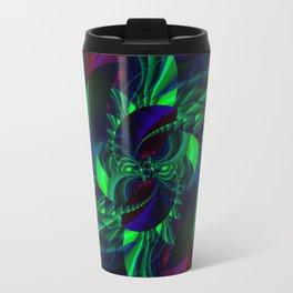 Digital Flower green and blue no. 2 Travel Mug
