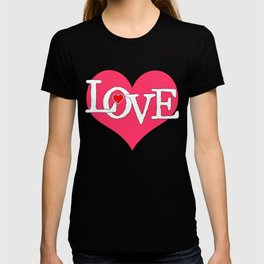 Pink Heart Filled with Love T-shirt