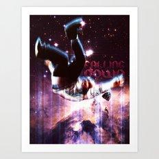Falling Down in Space Dreams Art Print