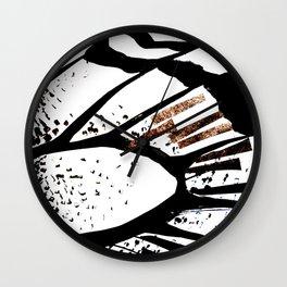 Glitter accent butterfly Wall Clock