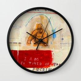 Gratuitous Simian Profanity. Wall Clock