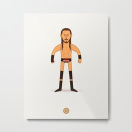 Big Cass - Pro Wrestler Illustration Metal Print