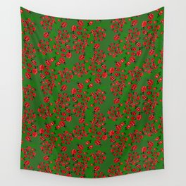 Ladybug in green Wall Tapestry