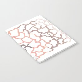 abstract shades of brown Notebook