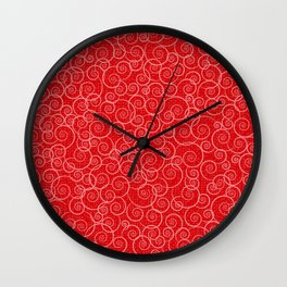 Curls Galore (Lava Red) Wall Clock