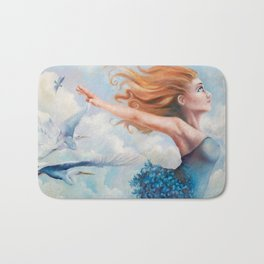 Zephyr, She Flies With Her Own Wings Bath Mat