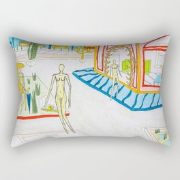 At the corner Rectangular Pillow