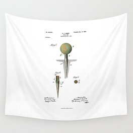 Golf Tee Patent - 1899 Wall Tapestry
