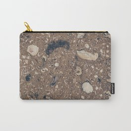 Cement Sea Shell Texture Carry-All Pouch