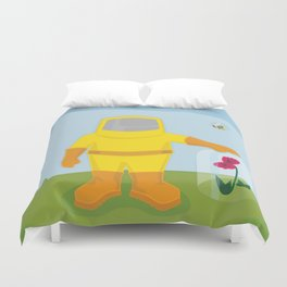 Allergy Season: Hazmat Suit Duvet Cover