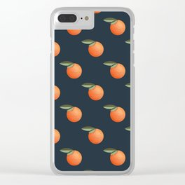 Pattern with mandarin in retro style Clear iPhone Case
