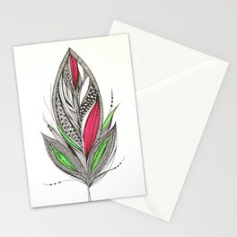 Harvest Feather Stationery Cards