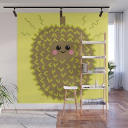 Happy Pixel Durian Wall Mural