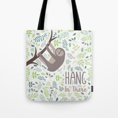 Sloth Hang In There Illustration Tote Bag