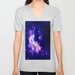 indigo galaxy : Celestial Fireworks Unisex V-Neck