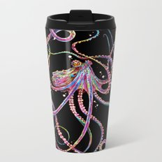 Reverse Drunk Octopus Metal Travel Mug