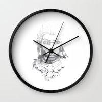 hindu Wall Clocks featuring Hindu deity by ZUBNORMAL