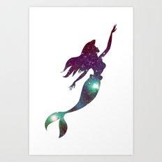 The Little Mermaid Cosmic Art Print