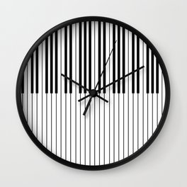 The Piano Black and White Keyboard Wall Clock