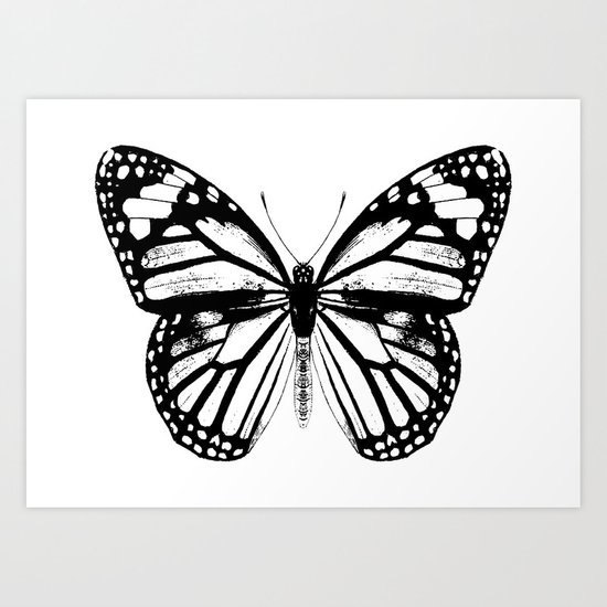 Monarch Butterfly | Vintage Butterfly | Black and White | by eclecticatheart