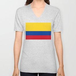 Colombia Flag Unisex V-Neck