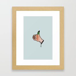 Green Thumb Framed Art Print