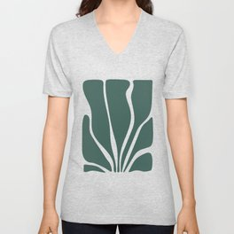 Abstract Seaweed Unisex V-Neck