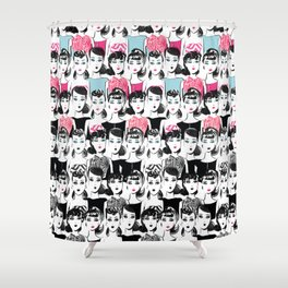 Barbie is the new black Shower Curtain