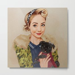 Zoella and Nala Metal Print