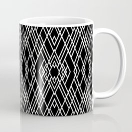 Art Deco Black and White Coffee Mug