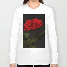Portrait of a red rose Long Sleeve T-shirt