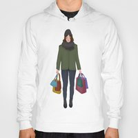 shopping Hoodies featuring christmas shopping by Lenas 9th Art
