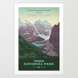 Yoho National Park Poster Art Print