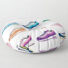 Colorful Sneaker set illustration original pop art graphic print Floor Pillow