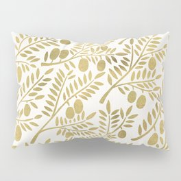 Gold Olive Branches Pillow Sham
