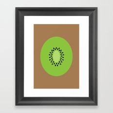 #3 Kiwi Fruit Framed Art Print